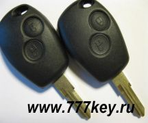 Renault  2 Button Remote Key Shell VAC102 код 26/11