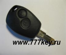 Renault 2 Button Remote Key Blank (с жалом)  код 26/12