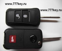 HYUNDAI Car Flip Key Shell 2 кнопки+паника  Porsche стиль код 14/15