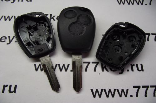 Renault 3  Button Remote Key Shell VAC102 код 26/14