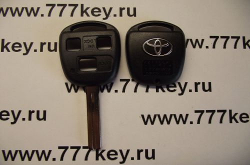 Toyota 3 Button Remote Key Shell TOY48 with Silver Logo код 29/5
