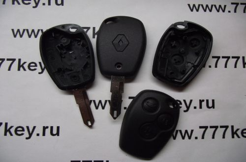 Renault 3 Button Remote Key Shell  код 26/15