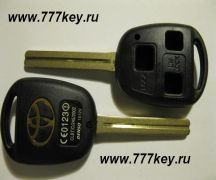 Toyota 3 button Remote Key Blank (LONG BLADE) код 29/19